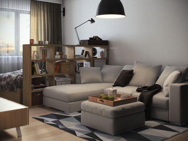 дизайн однокомнтной квартиры в Харькове